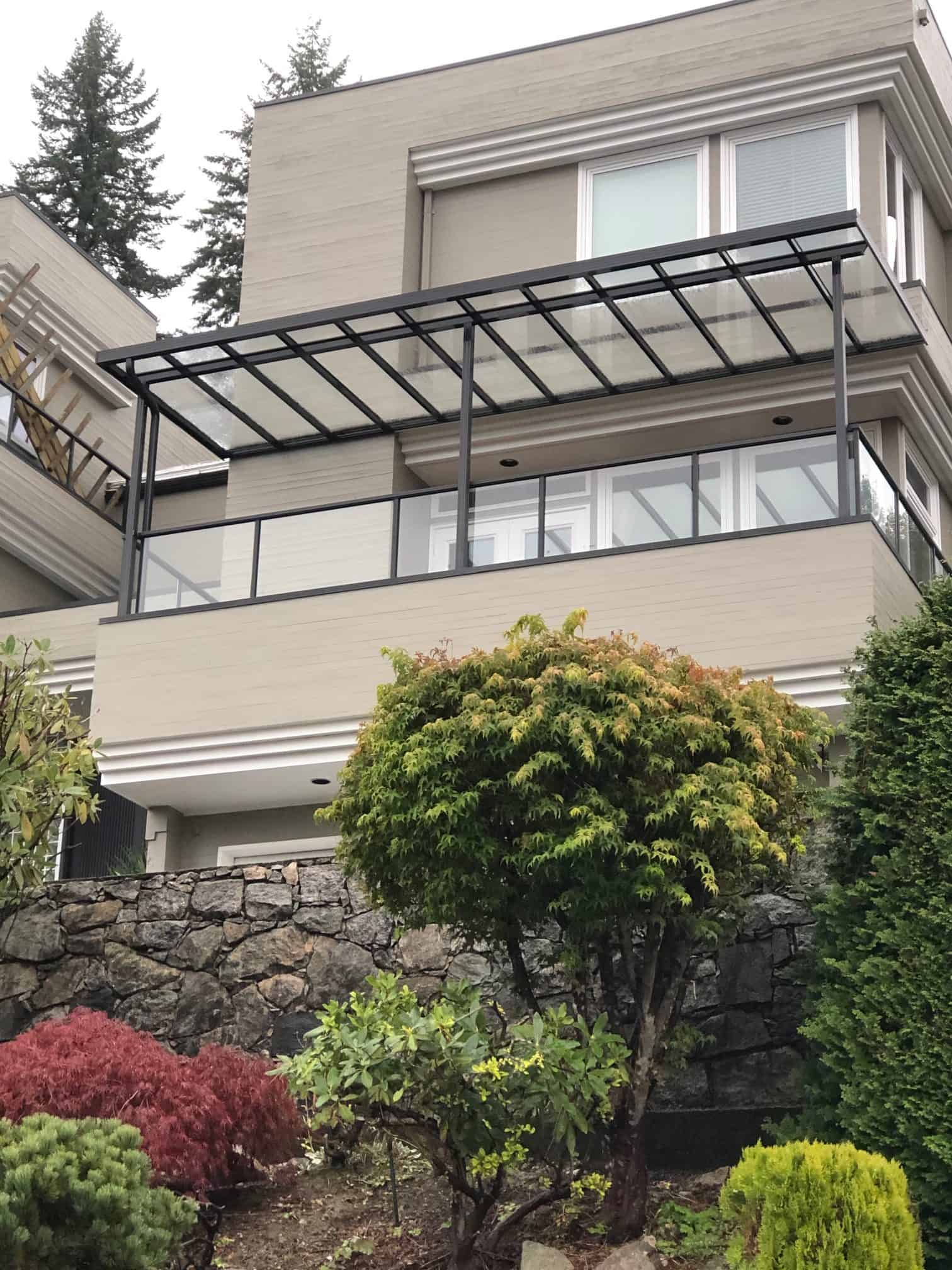 Beautiful Residential Glass Canopy system