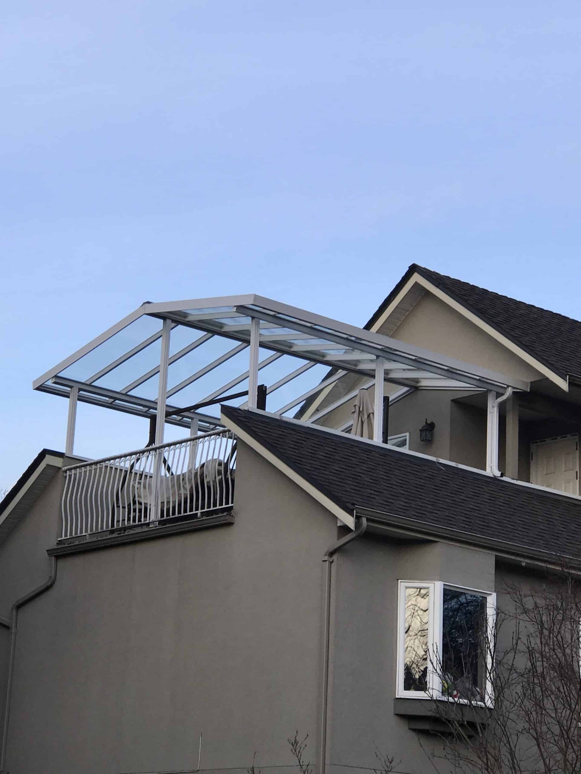 Peaked Roof Glass Canopy System in Vancouver and Coquitlam